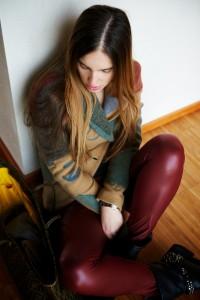 biker boots and desigual jacket