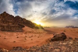 tramondo deserto